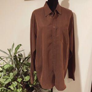 Bugatchi Long Sleeve Bottom Down shirt